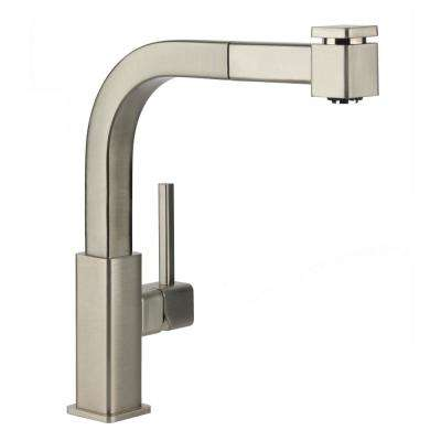 Avado Single-Handle Pull-Out Sprayer Kitchen Faucet in Brushed Nickel