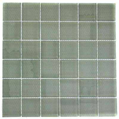 Contempo Seafoam 12 in. x 12 in. x 8 mm Polished Glass Floor and Wall Tile