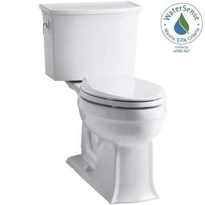 Archer Comfort Height 2-piece 1.28 GPF Elongated Toilet in White with Cachet Q3 Toilet Seat