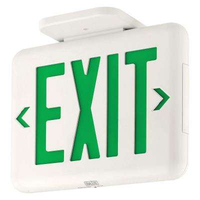 EVE Series 2-Watt White/Green Integrated LED Exit Sign with Battery and Self-Diagnostics