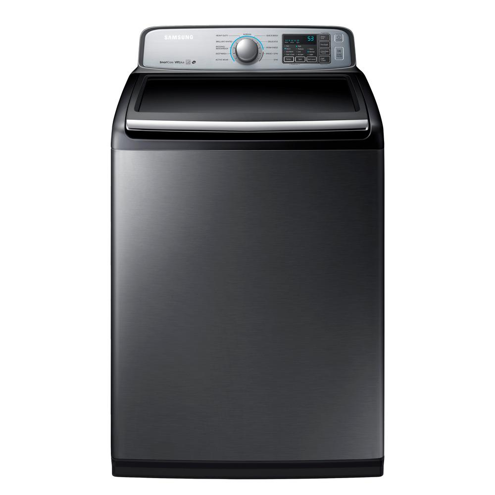 Whirlpool 4.8 cu. ft. High-Efficiency Chrome Shadow Top Load Washer ...