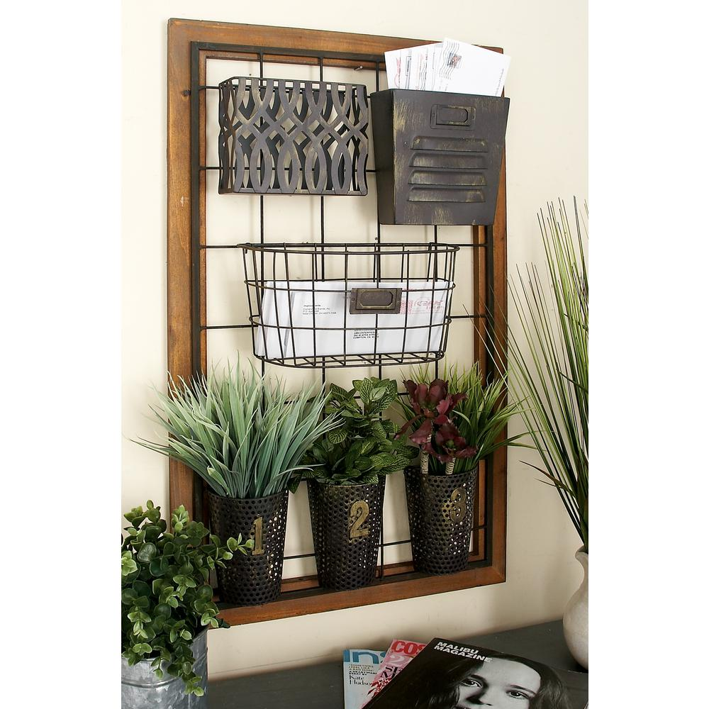 20 in. x 4 in. Wall Mount Storage with Wire Grid