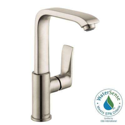 Metris E 230 Single Hole 1-Handle High-Arc Bathroom Faucet in Brushed Nickel