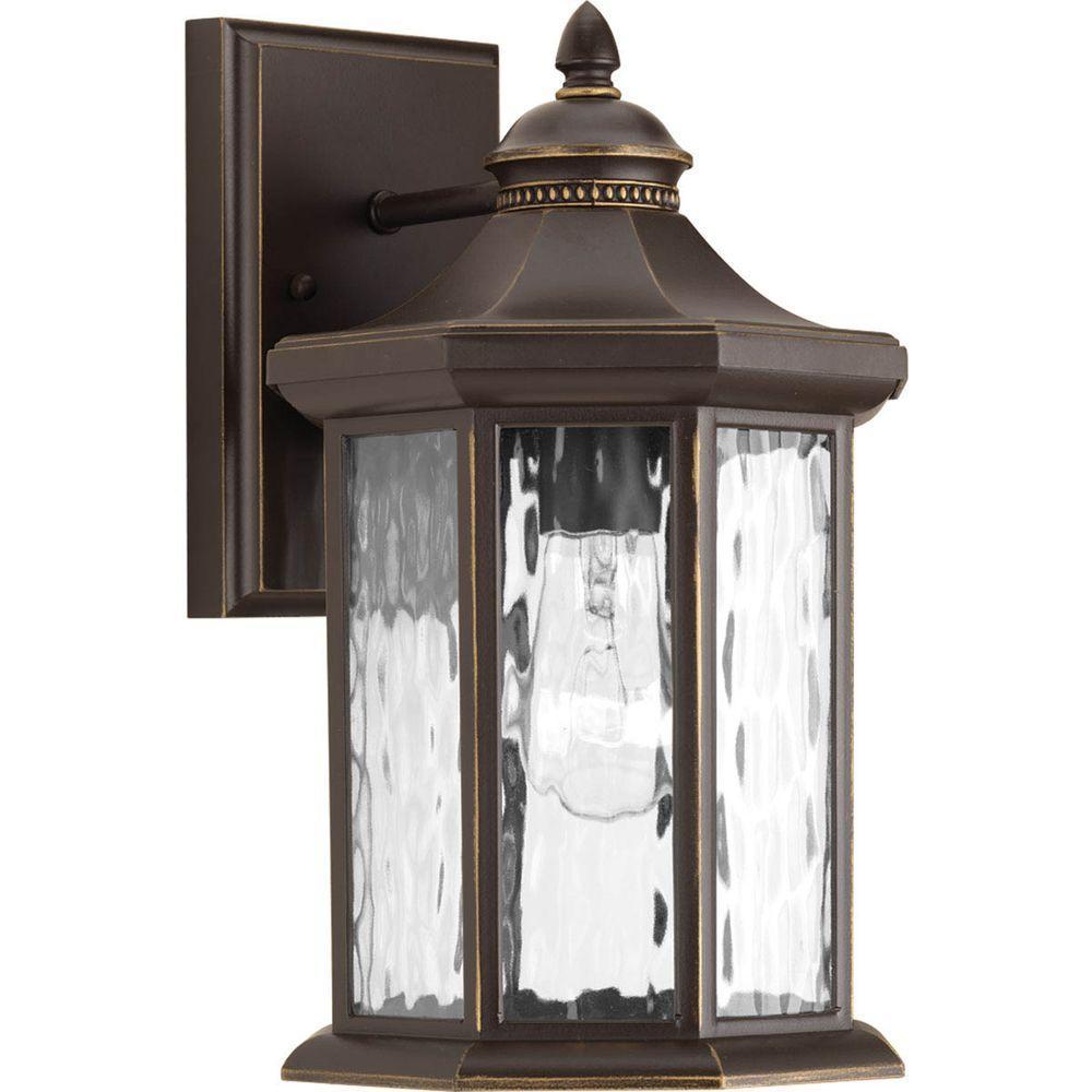 Edition Collection 1-Light Medium Antique Bronze 15.5 in. Outdoor Wall Lantern