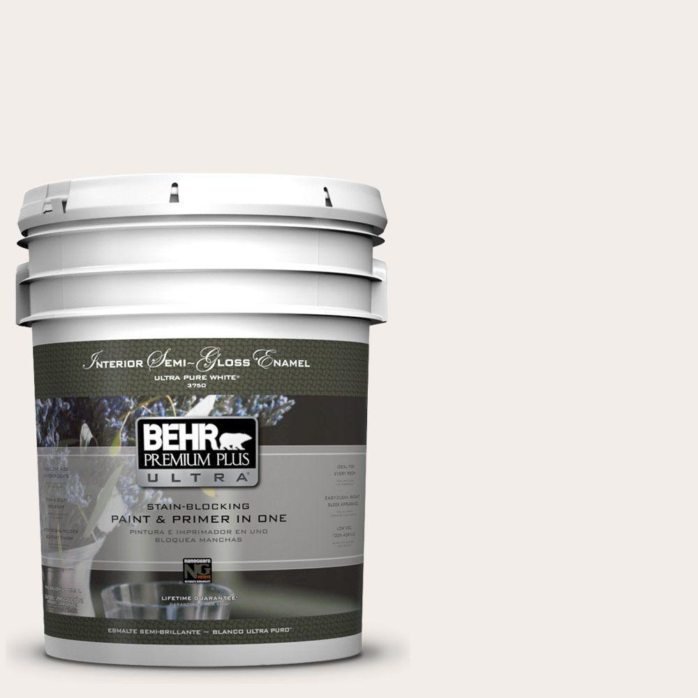 BEHR Premium Plus Ultra 5-gal. #PWN-26 Icing Rose Semi-Gloss Enamel Interior Paint