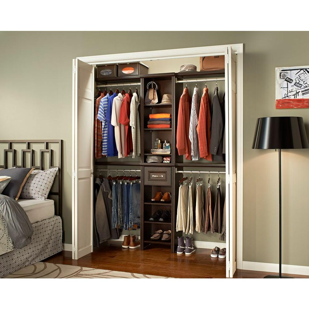 W Chocolate Narrow Closet Kit