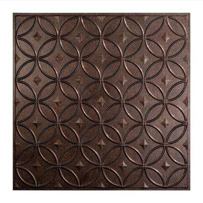 Rings - 2 ft. x 2 ft. Lay-in Ceiling Tile in Smoked Pewter