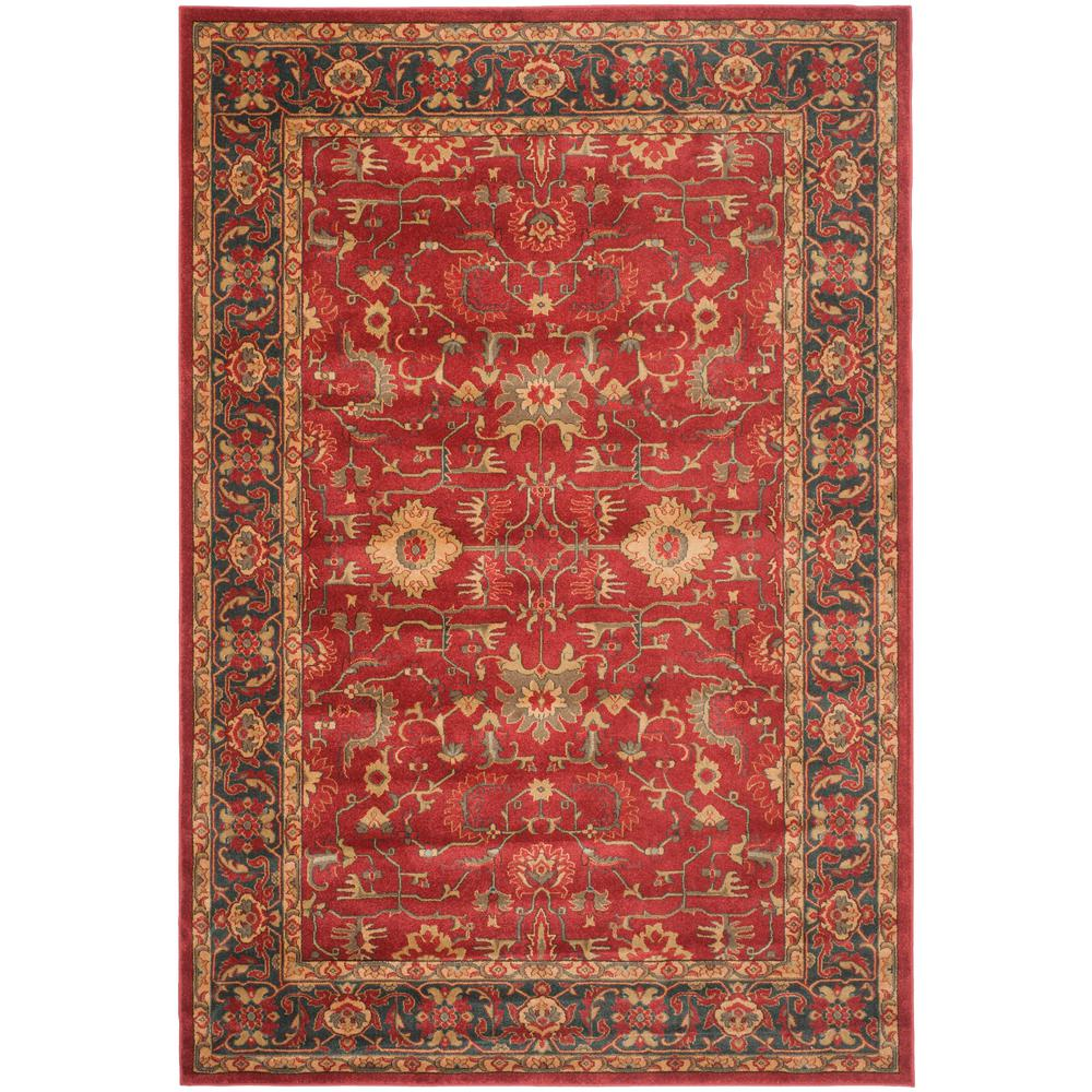 Safavieh mahal red navy 6 ft 7 in x 9 ft 2 in area rug for Red and navy rug