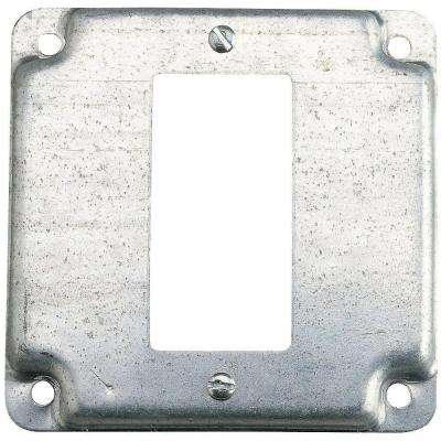 4 in. Square Box Cover for Single GFCI Receptacle (Case of 10)