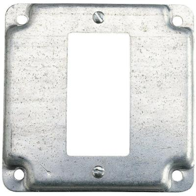 """Steel City 58-C-16 4/"""" x 2 1//8/"""" 1//4/"""" raised single GFCI receptacle Cover New"""