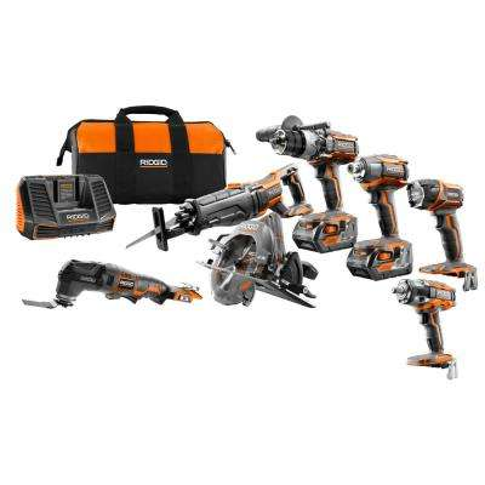 GEN5X 18-Volt 5 Piece Combo Kit with BONUS 18-Volt Brushless Impact Wrench and 18-Volt Jobmax Base