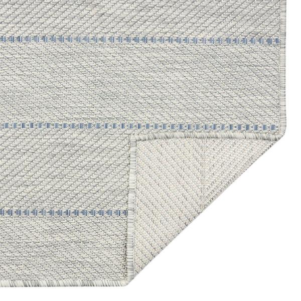 Mercer Street Rugs Aloha Mikole Sterling 5 Ft 3 In X 7 Ft 7 In Indoor Outdoor Area Rug Mikol Sterl 53x77 The Home Depot