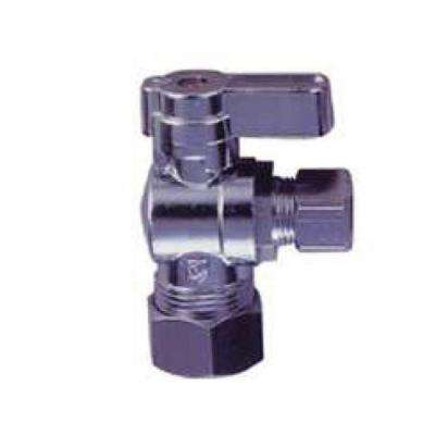 JAG for Plumbers 5/8 in. O.D. Compression Inlet x 3/8 in. O.D. Compression Outlet 1/4-Turn Angle Ball Valve (10-Pack)