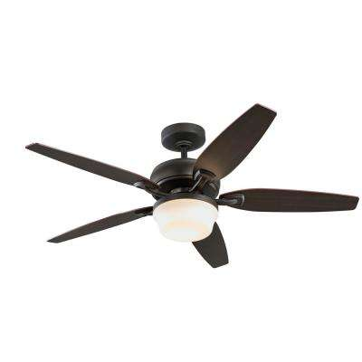 52 in. Arrano Integrated LED Indoor Oil Rubbed Bronze DC Ceiling Fan with Light Kit and Remote Control