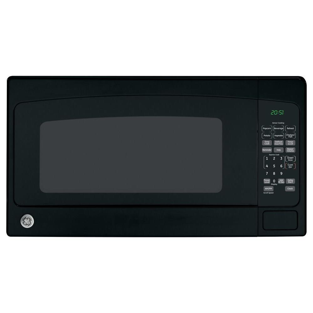Ge 2 0 Cu Ft Countertop Microwave In Black
