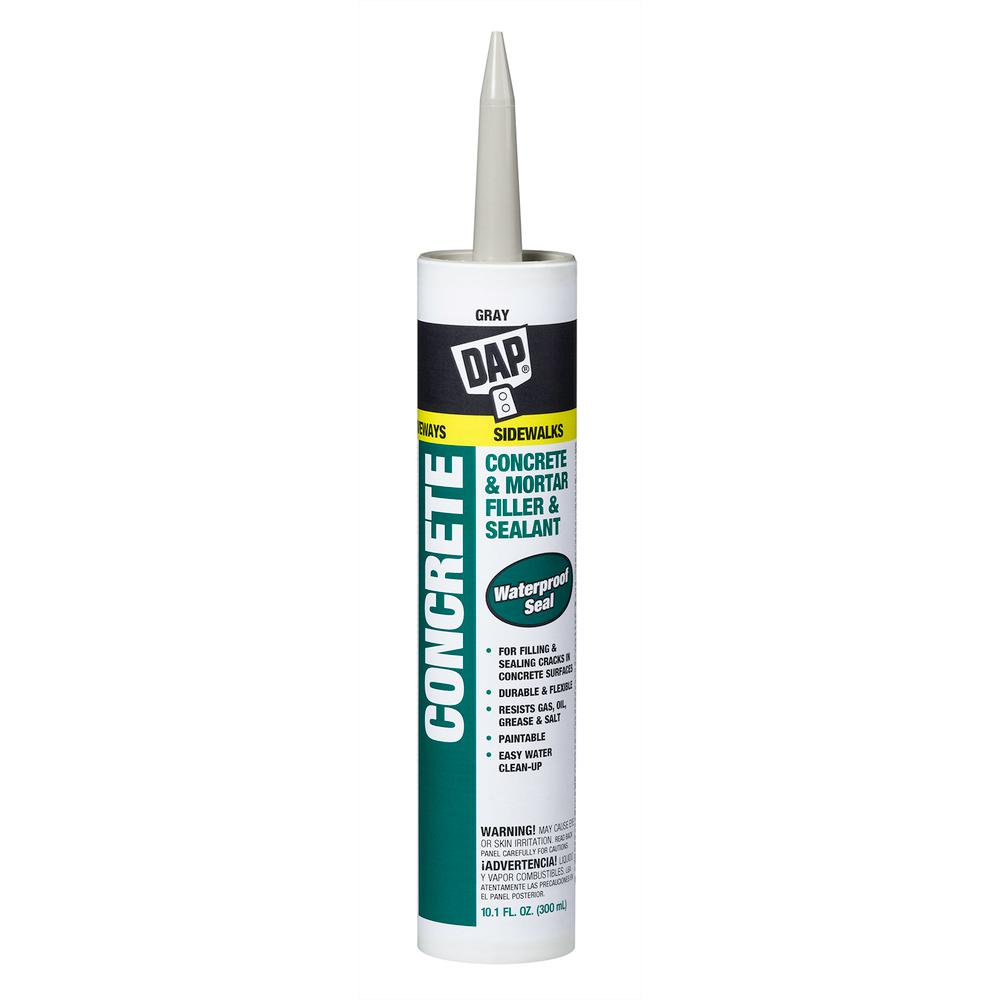 Grey Kitchen And Bath Caulk: DAP 10.1 Oz. Gray Watertight Concrete Filler And Sealant
