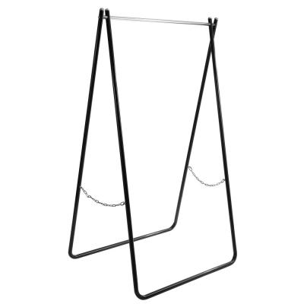 Noah Folding 37.4 in. W x 63.7 in. H Black/Chrome Metal Garment Rack