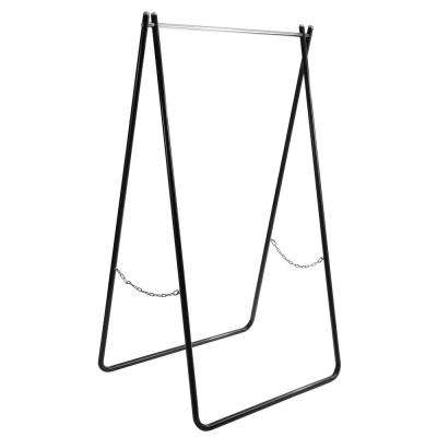 Noah Folding 37.4 in. W x 63.7 in. H Black/Chrome Metal Garment Rack