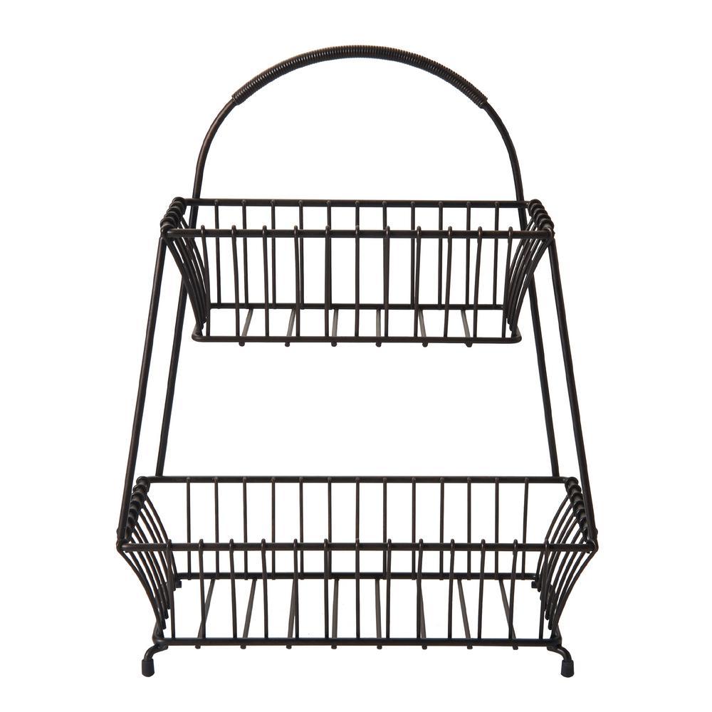 Marketplace 2 Tier Flat-Back Basket