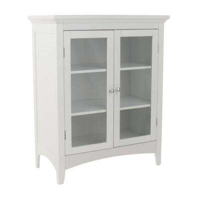 Wilshire 26 in. W x 32 in. H x 13 in. D 2-Door Bathroom Linen Storage Floor Cabinet in White