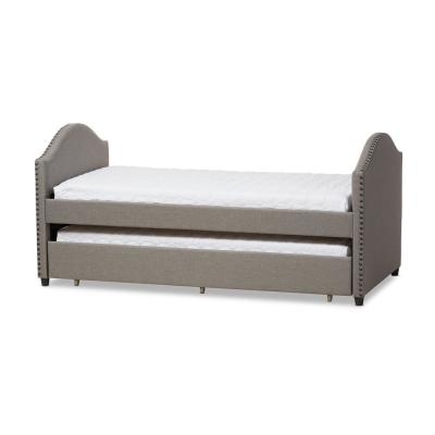Alessia Contemporary Gray Fabric Upholstered Twin Size Daybed