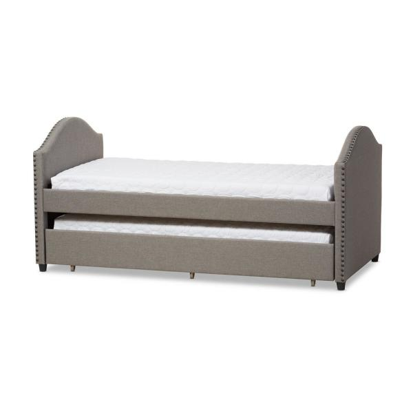 Baxton Studio Alessia Contemporary Gray Fabric Upholstered Twin Size Daybed