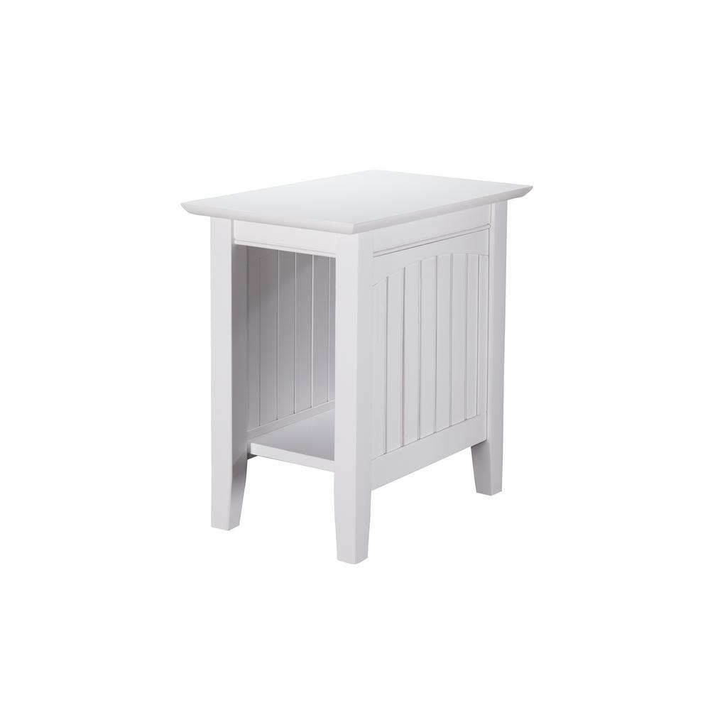 Atlantic Furniture Nantucket White Chair Side Table
