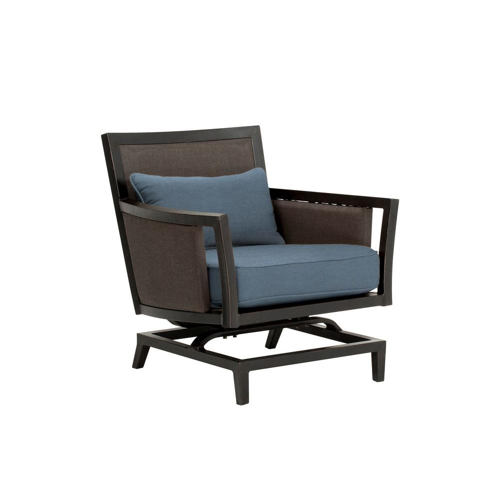 Brown Jordan Greystone Patio Motion Lounge Chair in Denim CUSTOM MT005 LA