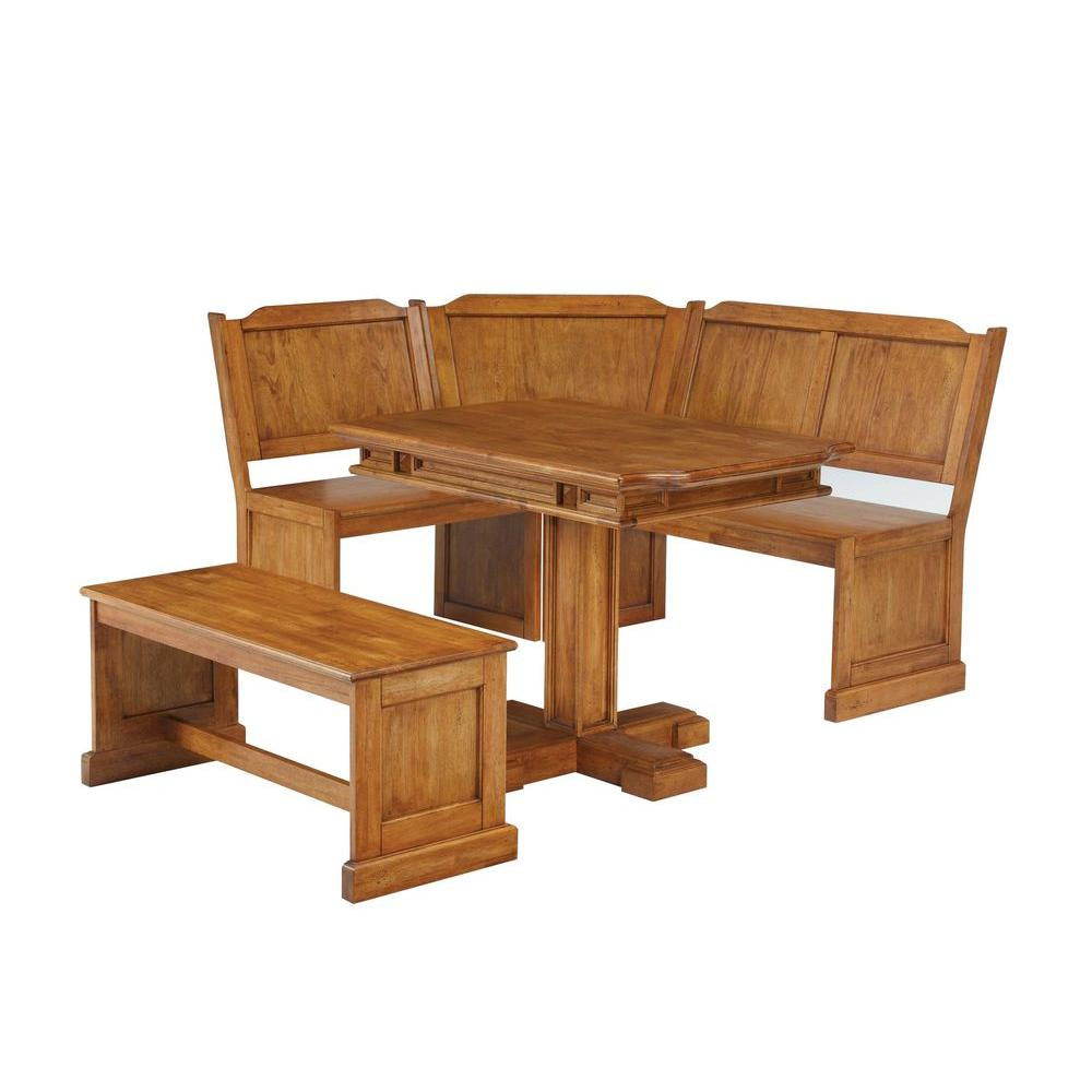 Home Styles Distressed Oak Corner Nook Dining Set-DISCONTINUED