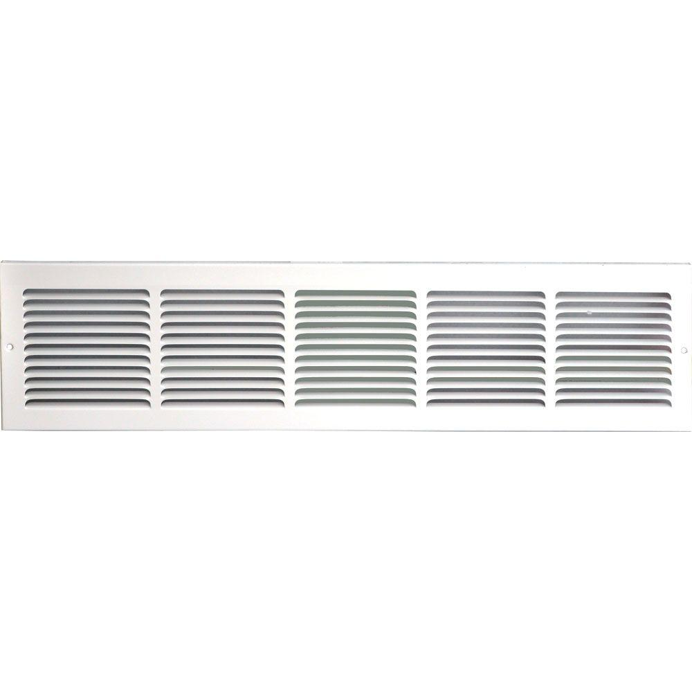 speedi grille 30 in x 8 in return air vent grille white with fixed blades sg 308 rag the. Black Bedroom Furniture Sets. Home Design Ideas