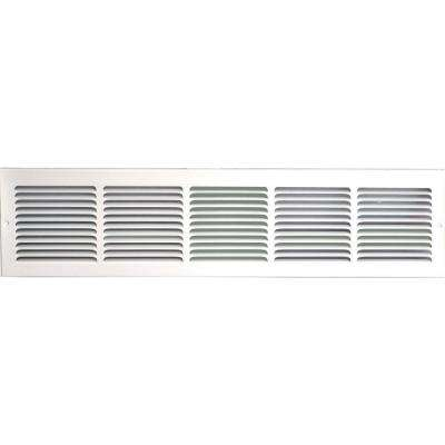 30 in. x 8 in. Return Air Vent Grille, White with Fixed Blades