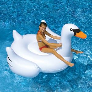 Swimline Giant Swan 75 inch Inflatable Ride-On Pool Toy by Swimline