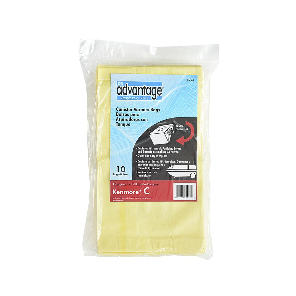 Advantage Kenmore C Microfiltration Vacuum Bags Designed To Fit Cannister Vacuums