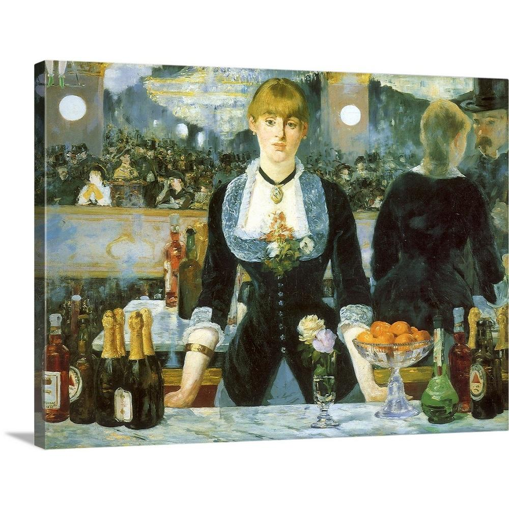 Greatbigcanvas bar at the folies bergere by edouard 1832 1883 manet canvas wall art 1936028 24 40x30 the home depot
