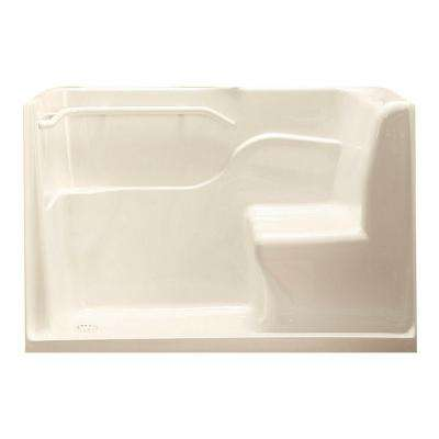 30 in. x 59.5 in. x 37 in. Seated Safety Shower Stall in Linen