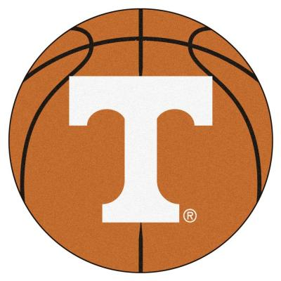 NCAA University of Tennessee Orange 2 ft. x 2 ft. Round Area Rug