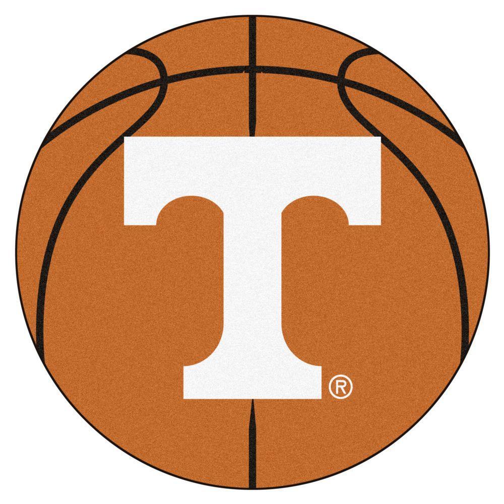 NCAA University of Tennessee Orange 2 ft. x 2 ft. Round Area Rug