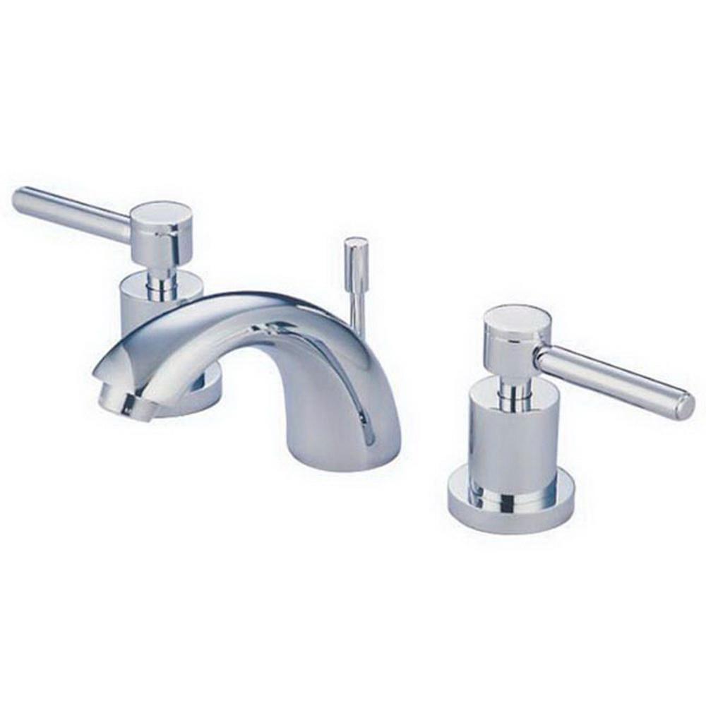 Kingston Brass Abington 4 In Minispread 2 Handle Bathroom Faucet Chrome