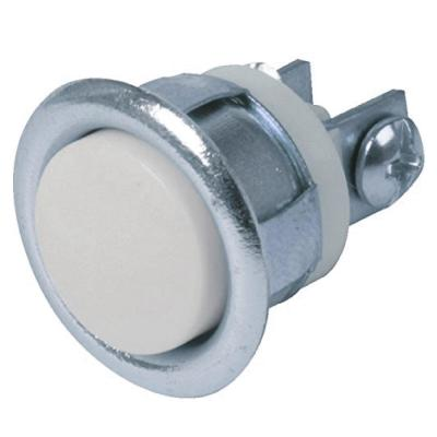 Wired Lighted Flush Mount Door Chime Button, Silver (25-Pack)