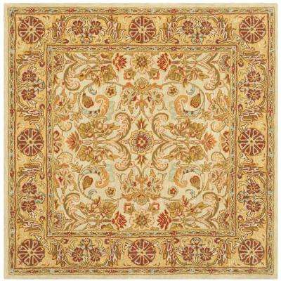 Classic Gray/Light Gold 6 ft. x 6 ft. Square Area Rug