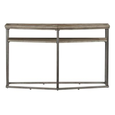 Adison Cove 48 in. Ash Blonde Triangle Wood Console Table