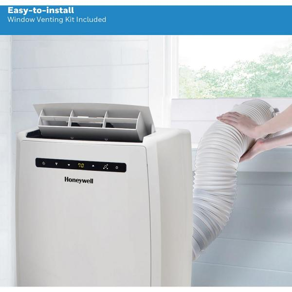 Honeywell 12 000 Btu 6 500 Btu Doe Portable Air Conditioner With Heater And Dehumidifier Mn12chesww The Home Depot