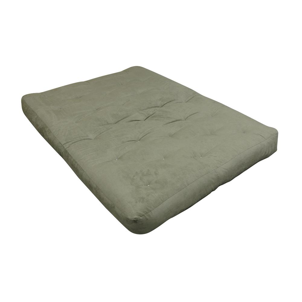 Gold Bond King 8 in. Foam and Cotton Sage Futon Mattress