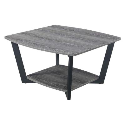 Graystone Weathered 17.75 in. H Gray and Black Square Coffee Table
