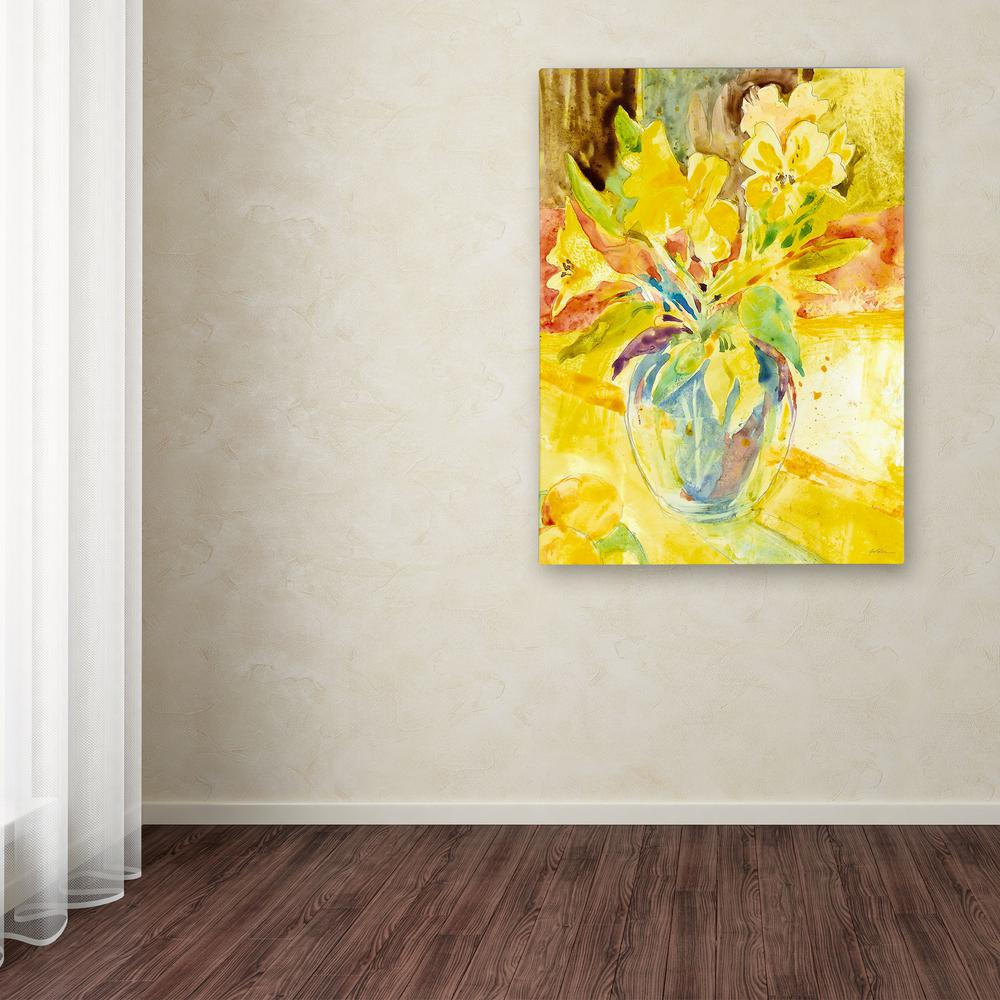 "24 in. x 18 in. ""Vase with Yellow Flowers"" by Sheila"