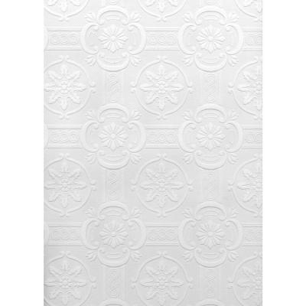 Paintable Reuben Ornate Tiles Vinyl Peelable Wallpaper (Covers 56.4 sq. ft.)
