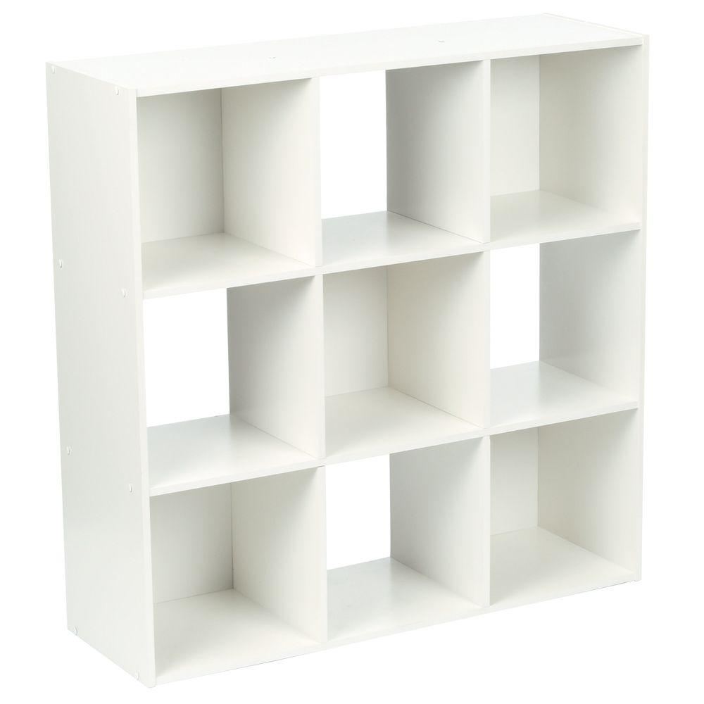 White Stackable 9 Cube Organizer
