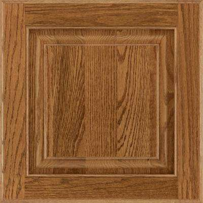 13 in. x 12-7/8 in. Cabinet Door Sample in Olmsted Oak Tawny