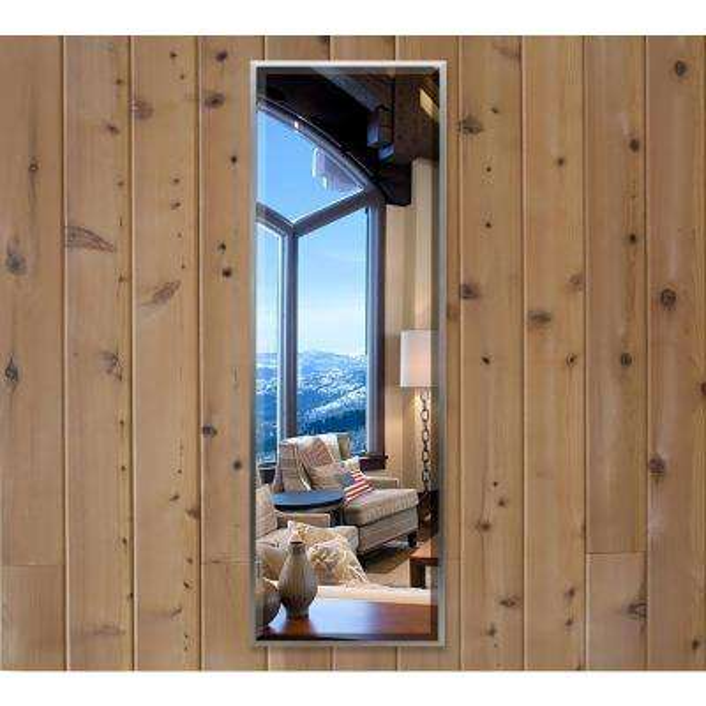 54.125 in. x 15.125 in. Romeo Silver Sheen Beveled Slender Body Vanity Mirror