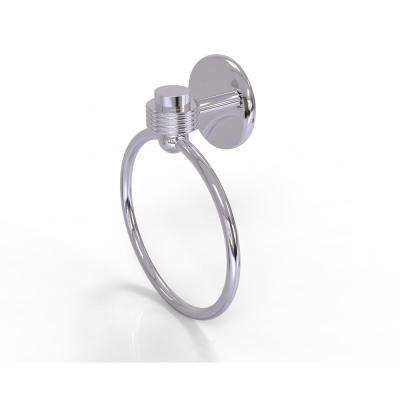 Satellite Orbit One Collection Towel Ring with Groovy Accent in Polished Chrome